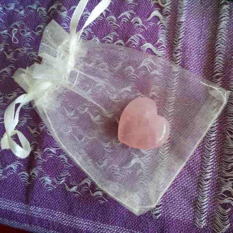 Sarahs Love (Rose quartz heart)